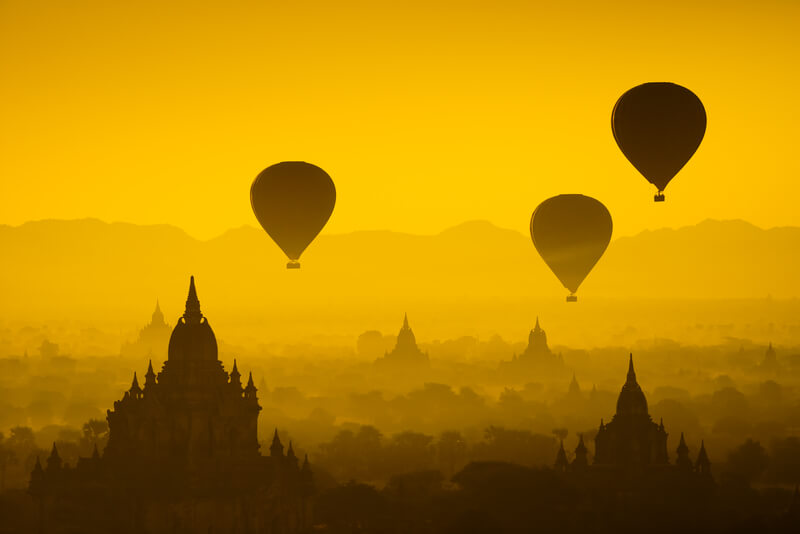 ballonvlucht in Bagan Myanmar